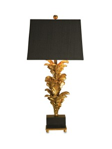 Currey Golden Leaves Table Lamp