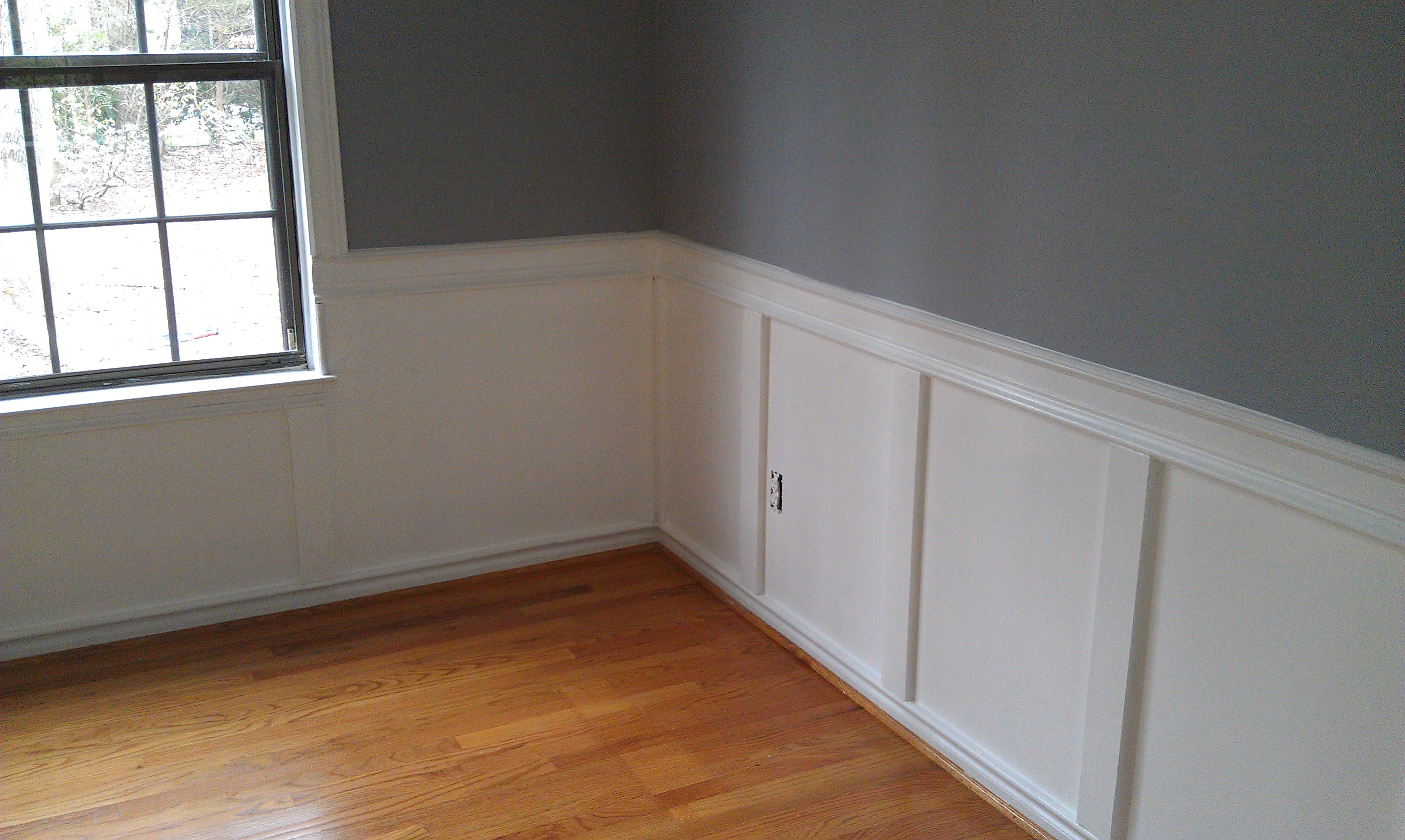 Wainscoting sophia rae home furnishings Should i paint wood paneling
